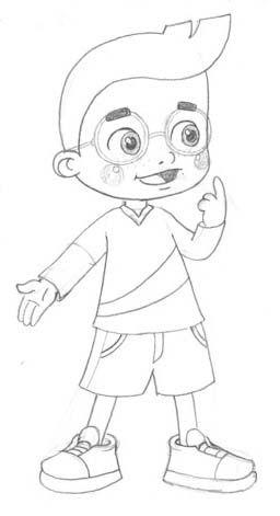 شخصية كرتونية بقلم الحبر Anime Drawings Tutorials Art Drawings