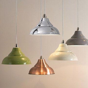 Vintage metal pendant shade stylish lighting at primrose plum vintage metal pendant lampshades with optional cord set aloadofball Choice Image
