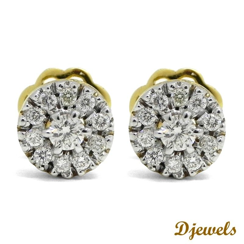 Diamond Earrings For Women Solitaire And Dangler At Djewels In Delhi India