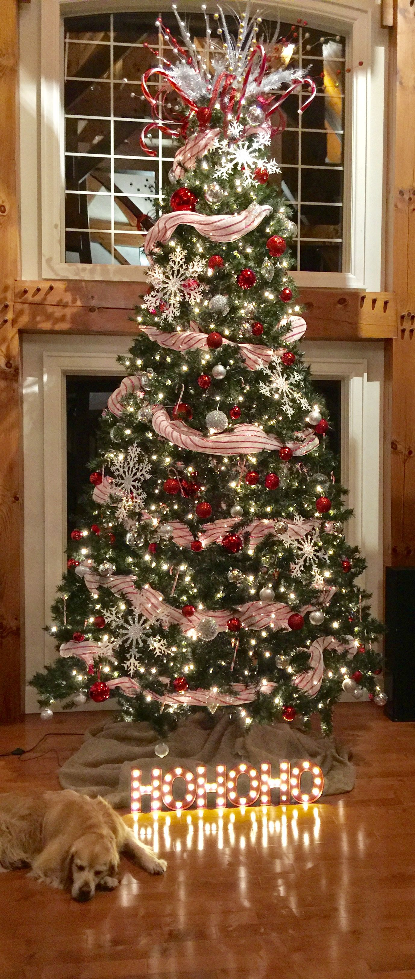 Tall Tree Canadian Tire Canvas Candy Cane Tree Topper