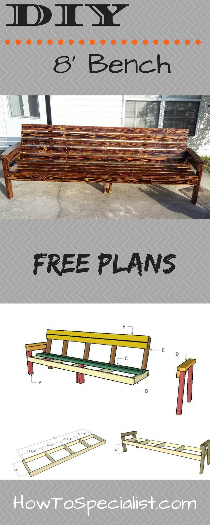 8 ft Bench Plans | DIY Plans | Bench plans, Pallet furniture plans  Foot Bench on heavy duty bench, 9 ft bench, square bench, portable bench, electronic bench, 6 foot bench, work bench, 8 ft storage bench, kitchen bench, 5 foot bench, glass bench, 36 inch bench, outdoor wooden memorial bench, aluminum bench,