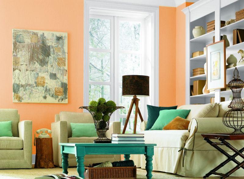 Wandfarben fürs Wohnzimmer \u2013 25 Gestaltungsideen #streichen #wände - Wohnzimmer Modern Lila
