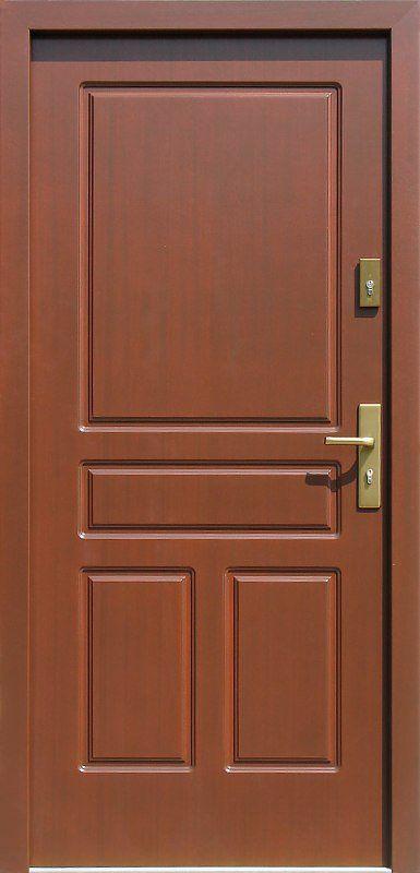 Exterior wooden door model 533,7 in mahogany