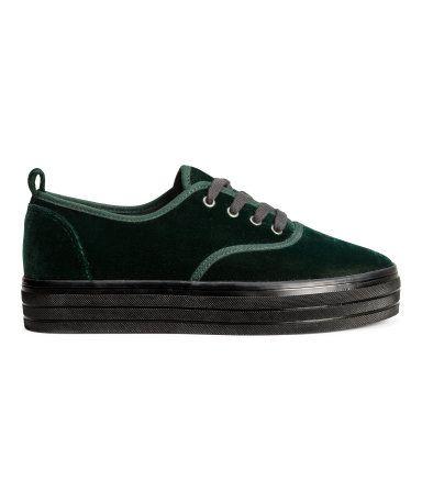 1defbf25cccb amazing green velvet platform sneakers from h m