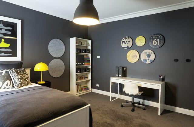 yellow and gray boy #bedroom For the Home Pinterest Cuarto - Decoracion De Recamaras Para Jovenes Hombres