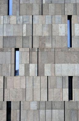 Basalt lava stone facade, detail, Museum Moderner Kunst, MUMOK in Vienna