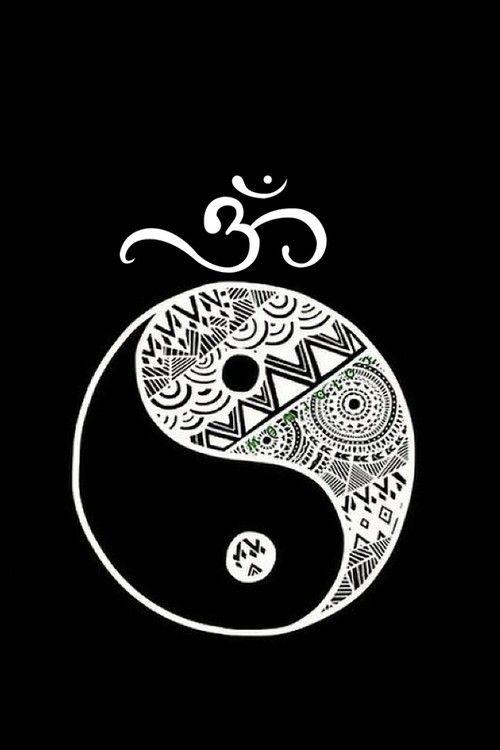 yin yang, namaste, om symbol Ying Yang Wallpaper, Zen Wallpaper, Buddhism Symbols