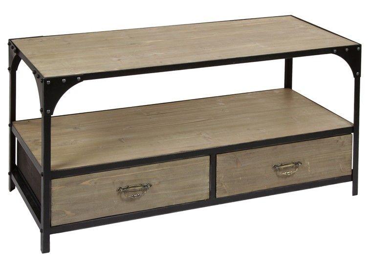 Mesa centro madera y metal cajones. Estas y otras mesas de centro ...