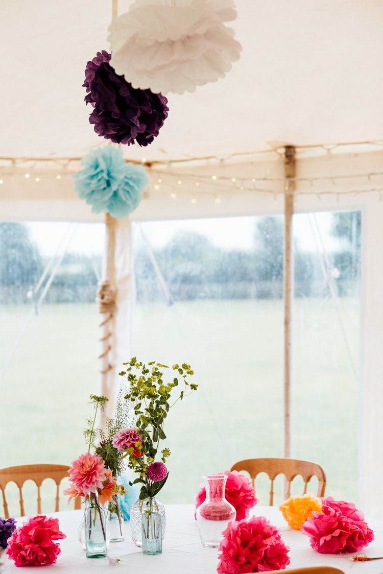 Multicoloured Home Made Glamping Wedding | Glamping weddings ...