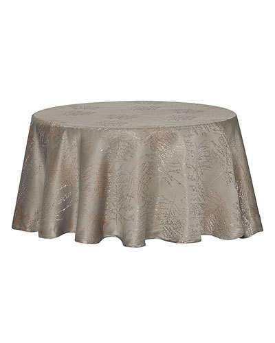 Waterford Timber Tablecloth 90 Round Waterford Linens