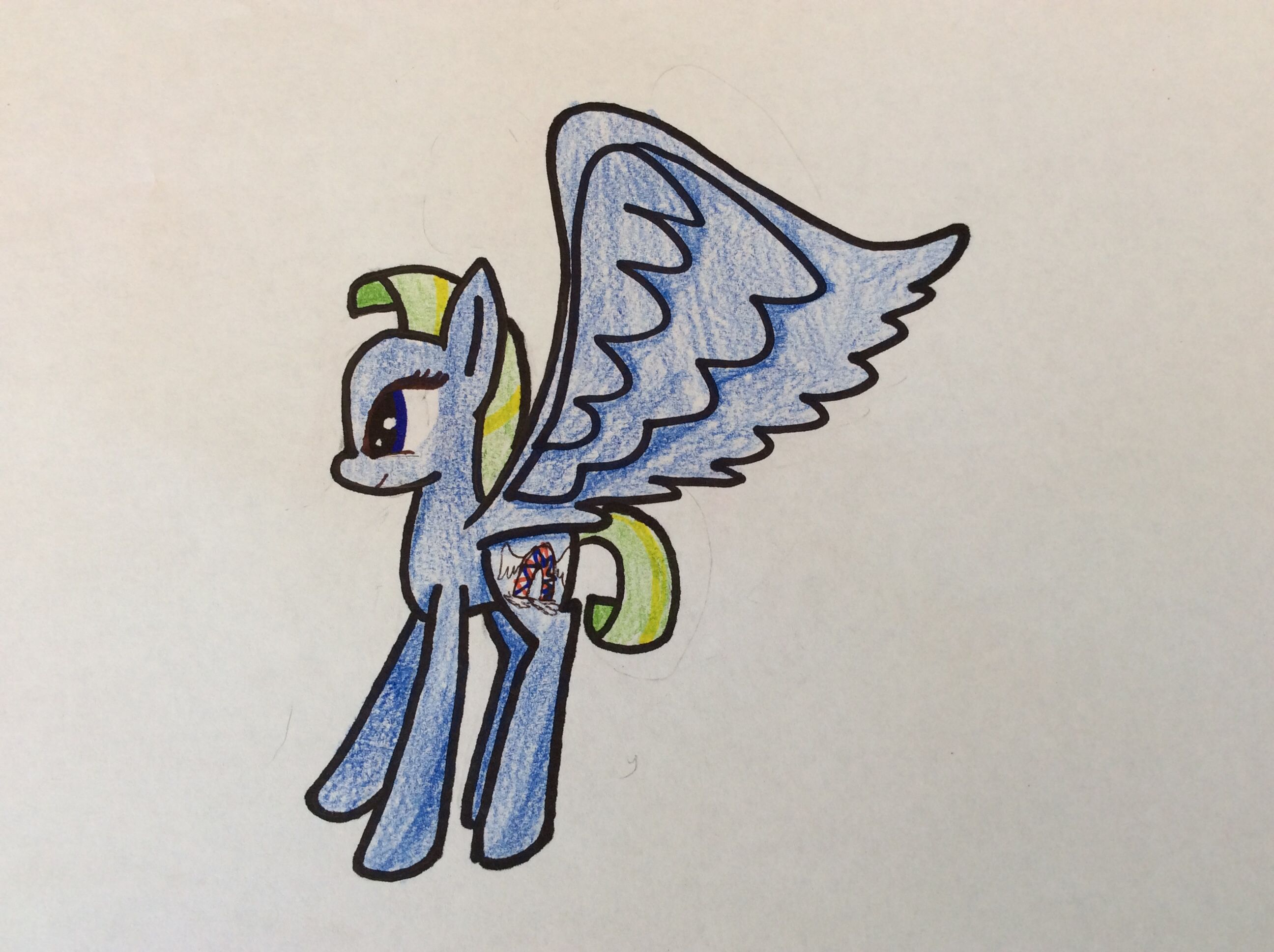 She was born with big wings. Named windy dreams. Adopted by me made by Nadia pizzallama