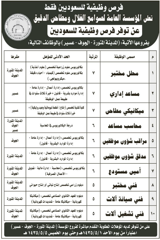 وظائف صحيفة الرياض ربيع الآخر