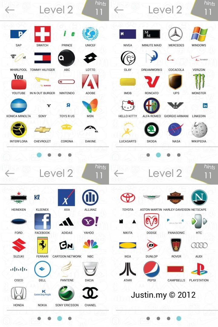 logos-quiz-answers-level-2 | Stuff | Pinterest | Logos Level 2 Logo Quiz Answers
