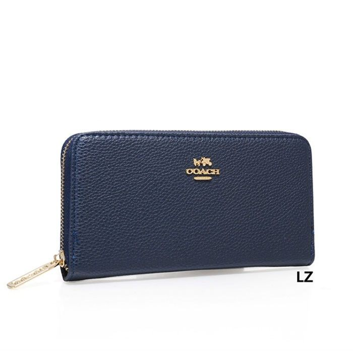 fa62581771 Coach Logo Charm LZ1907 Wallet In Navy Blue