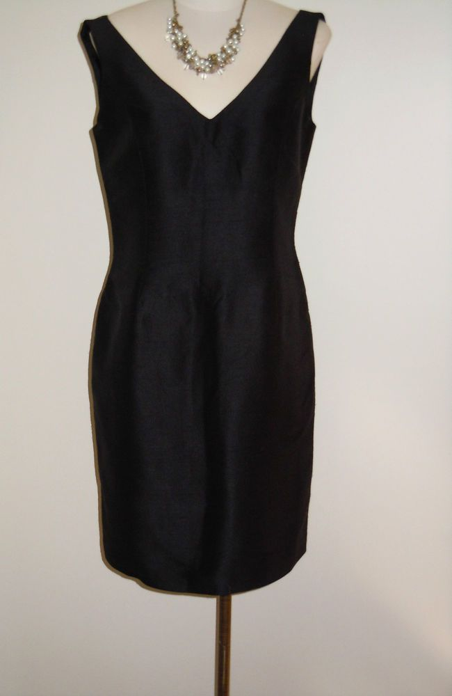 "Linda Allard for Ellen Tracy Size 6 Black Silk Dress ""Little Black Dress"" #EllenTracy #Sheath #LittleBlackDress 18.99"