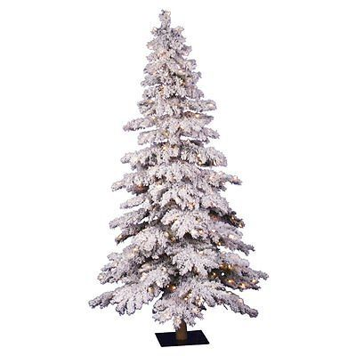 Artificial Christmas Trees 117414 5 Ft Flocked Spruce Alpine