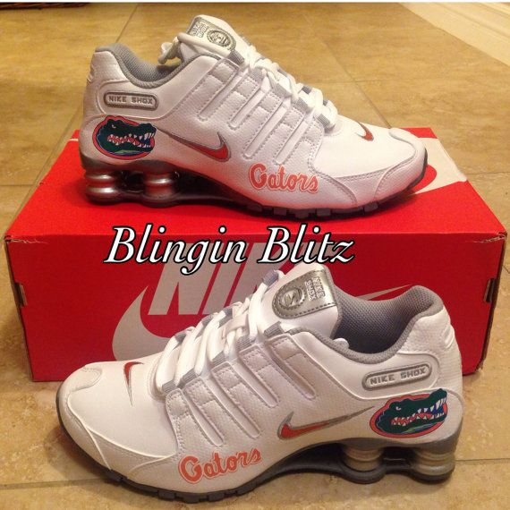 pretty nice 93424 8886b Womens Florida Gator Nike Shox sz 6.5 by BlinginBlitz on Etsy