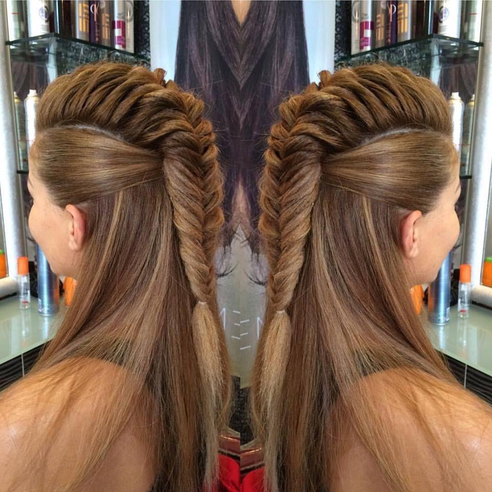 Fishtailbraid socool palasofhair hairstyles pinterest salons