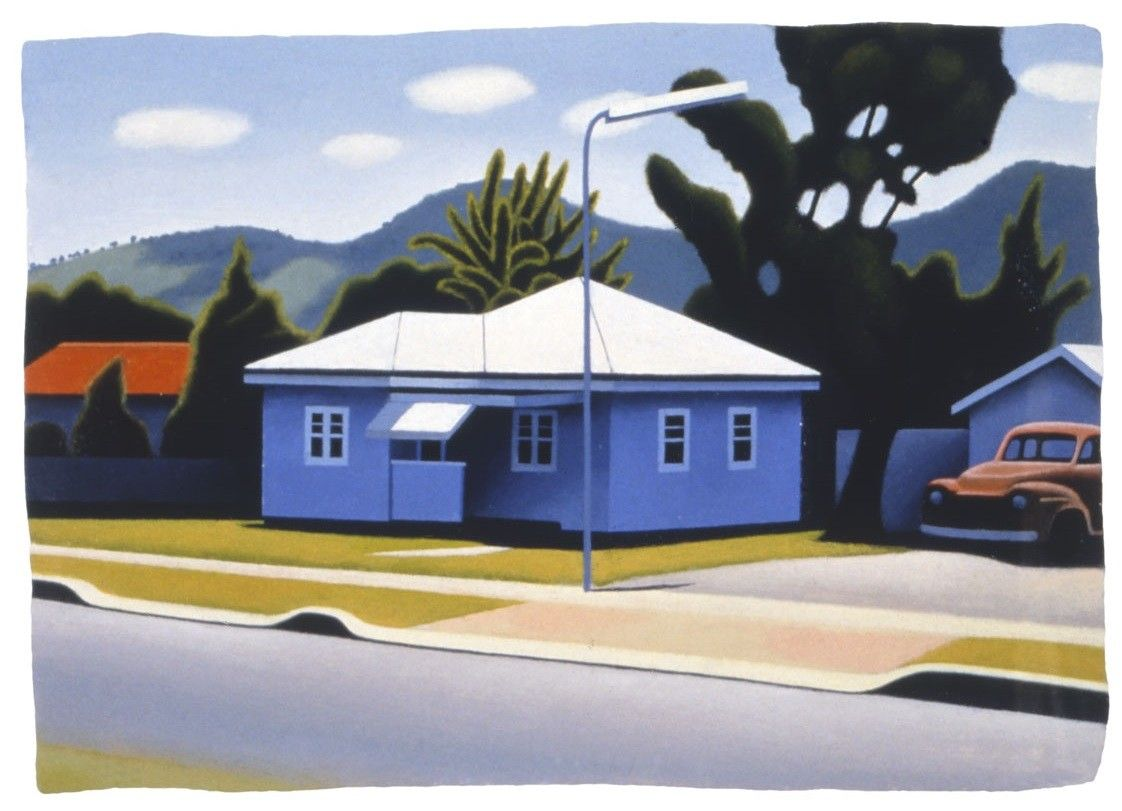 Streetscape With Badly Swollen Kerb Viral Infection Tamworth By Reg Mombassa Australian Painters Surf Design Mambo Graphics