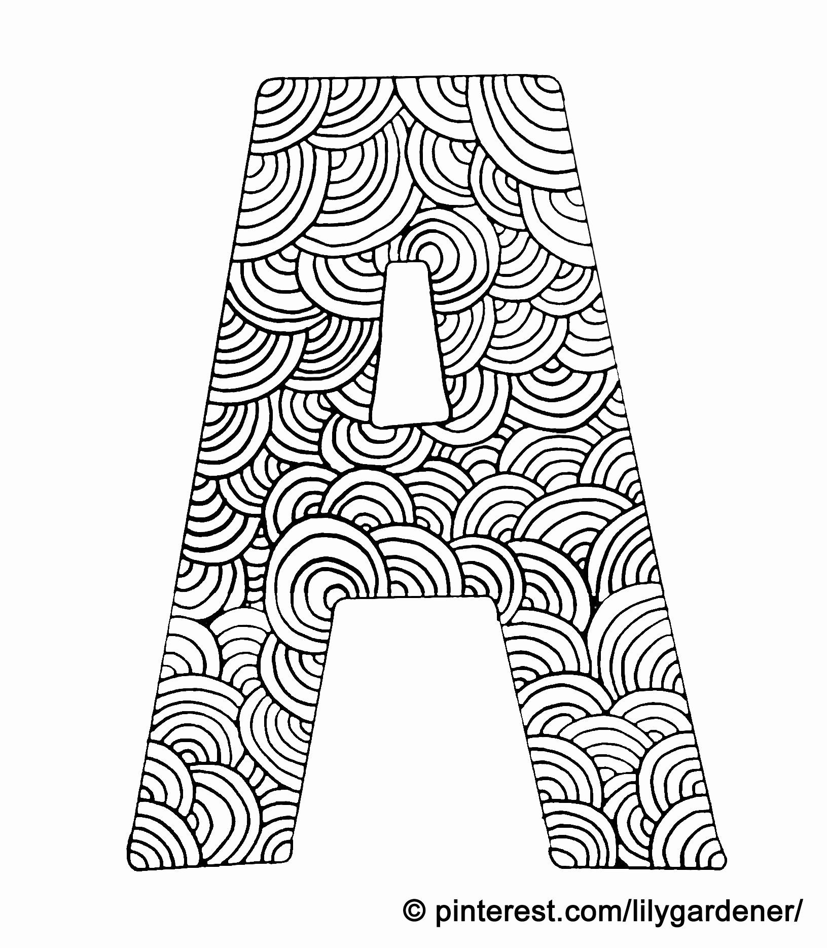 Alphabet Y Coloring Beautiful Coloring Page Letter A With Pattern Of Circles Coloring For Alphabet Coloring Pages Letter A Coloring Pages Turtle Coloring Pages