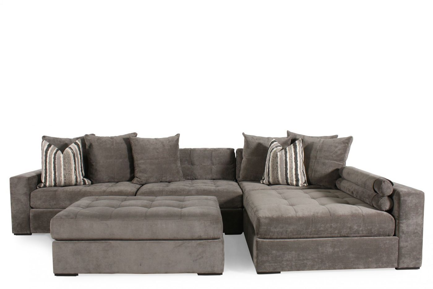 Jonathan Louis Noah Gray Sectional | Mathis Brothers Furniture  sc 1 st  Pinterest : mathis brothers sectional sofas - Sectionals, Sofas & Couches