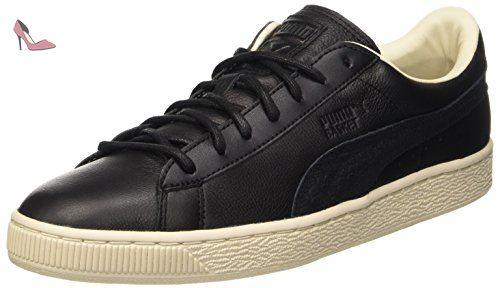 puma basket classic noir et argent