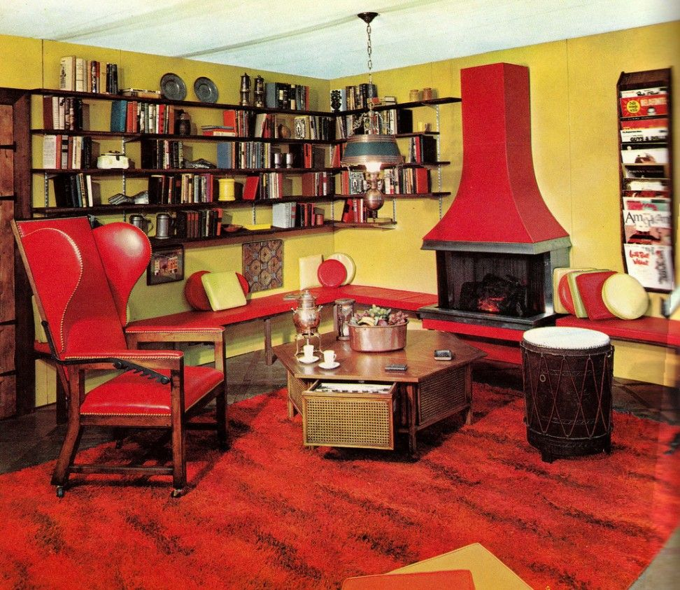 Yellow And Red Living Room Handsome Vintage Living Room Decor With Red Yellow Interior Design