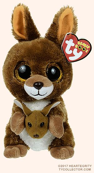Kipper Kangaroo Ty Beanie Boos Animais De Pelucia Ty