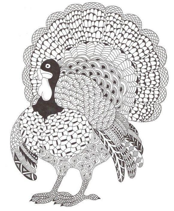 Adult coloring page Thanksgiving