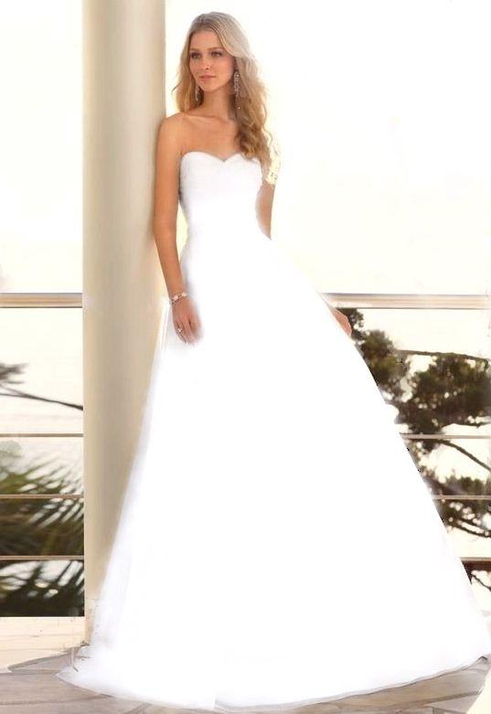 Amazing glowing white wedding dress