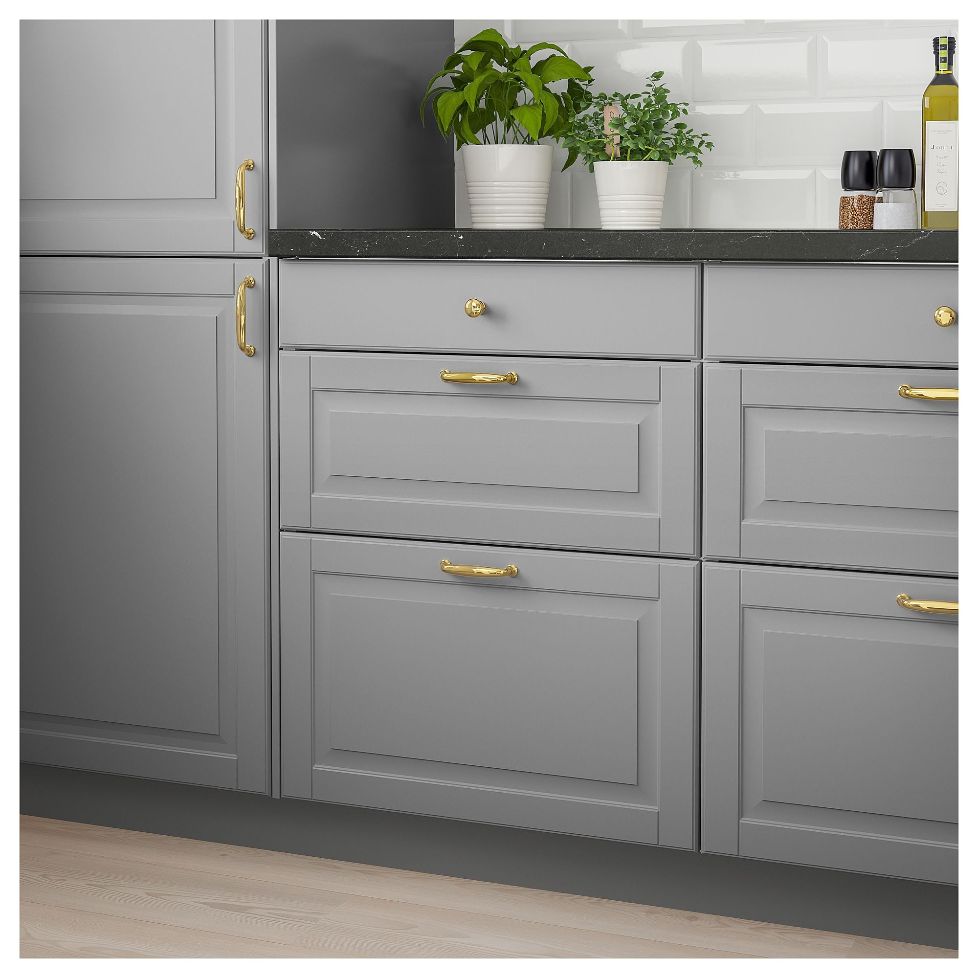 Bodbyn Drawer Front Gray 24x15 61x38 Cm Kitchen Design