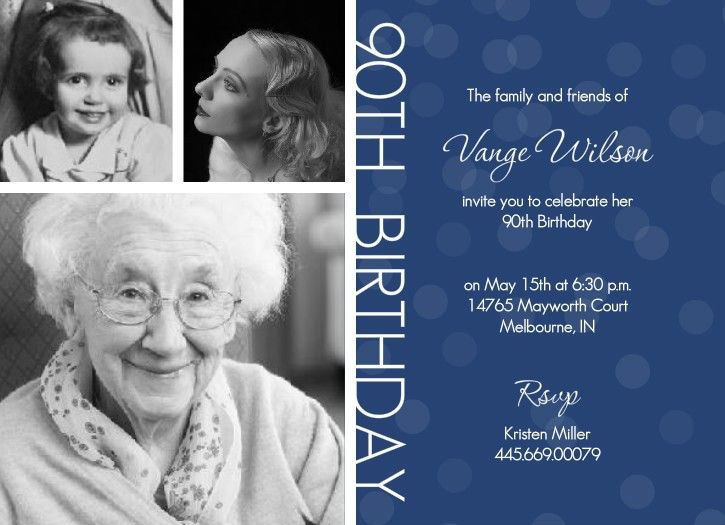 Free Printable 90th Birthday Invitations