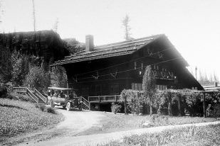Belton Chalet - Glacier Park - Approx 100 years ago.