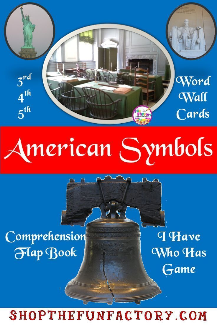 Facts about U.S. Symbols printables, worksheets, interactive notebook, I Have, W...