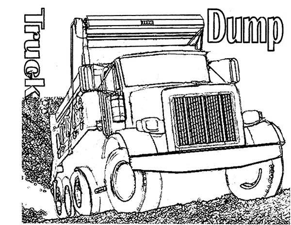 Trucks,  realistic-dump-truck-coloring-page-for-kidsjpg Coloring - new online coloring pages for cars