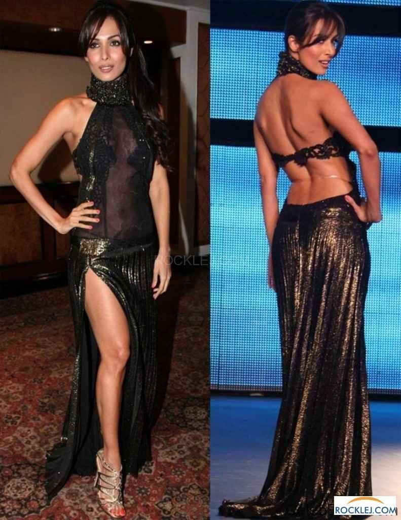malaika arora khan smashing hot backless dress photos