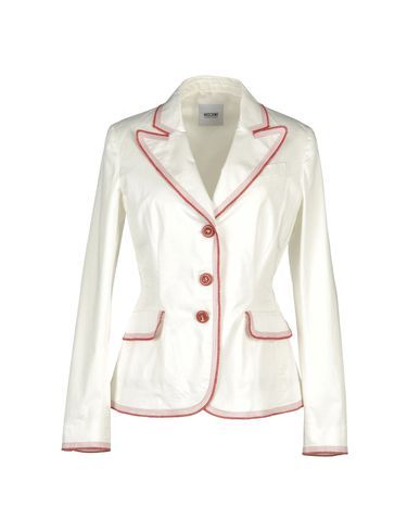 05b9ee4cd0 Moschino cheapandchic Blazer-white with red trim   Coats, Jackets ...