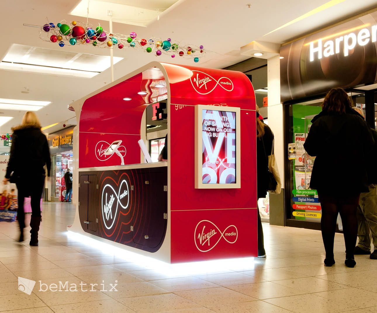 Virgin Kiosk Custom Made Structure Bematrix Finishing Client Enigma Popup Kiosk Bematrix Kiosk Modular Display Exhibition Booth