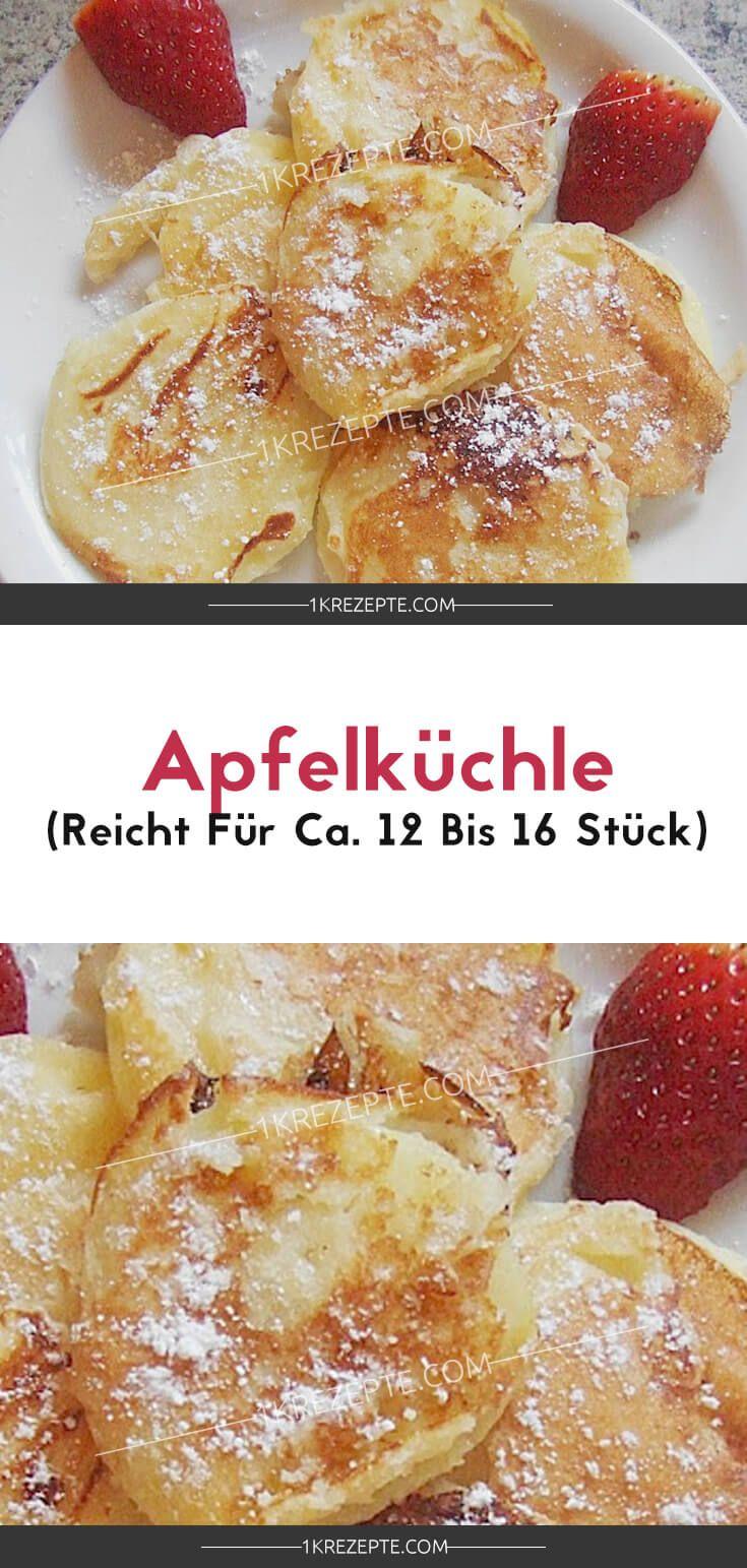 Apfelküchle (reicht für ca. 12 bis 16 Stück) #apfelmuffinsrezepte
