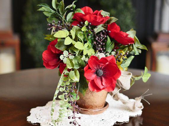 Faux red poppies flower arrangement floral arrangement red poppies faux red poppies flower arrangement floral arrangement red mightylinksfo