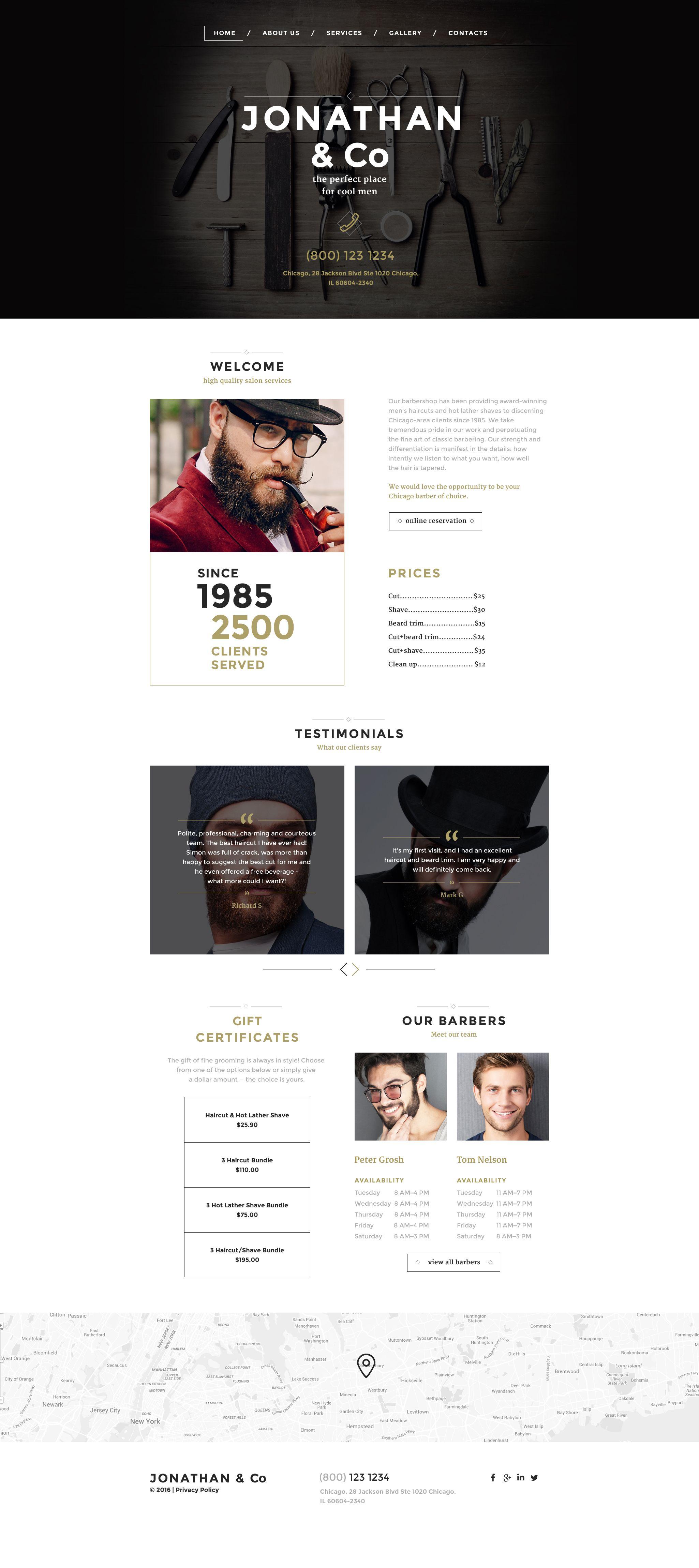 Hair Salon Responsive Website Template Website template