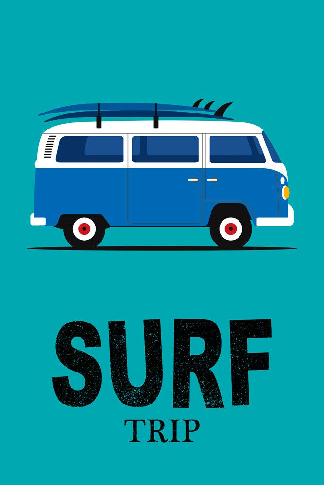 Volkswagen Stock Quote Surfer Print Volkswagen Van Surfing Quote Print Surfboard Print