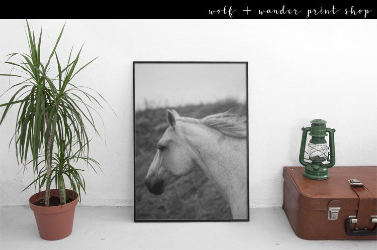 Running Horse Print | Horse Print | Scandinavian print | Western Print | Horse Art | Horse | Wild Horse | Animal Print | Instant Download by WolfandWanderCo on Etsy