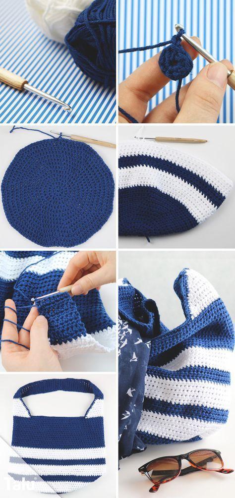 Photo of Crochet chic bag – free tutorial for beginners – Talu.de