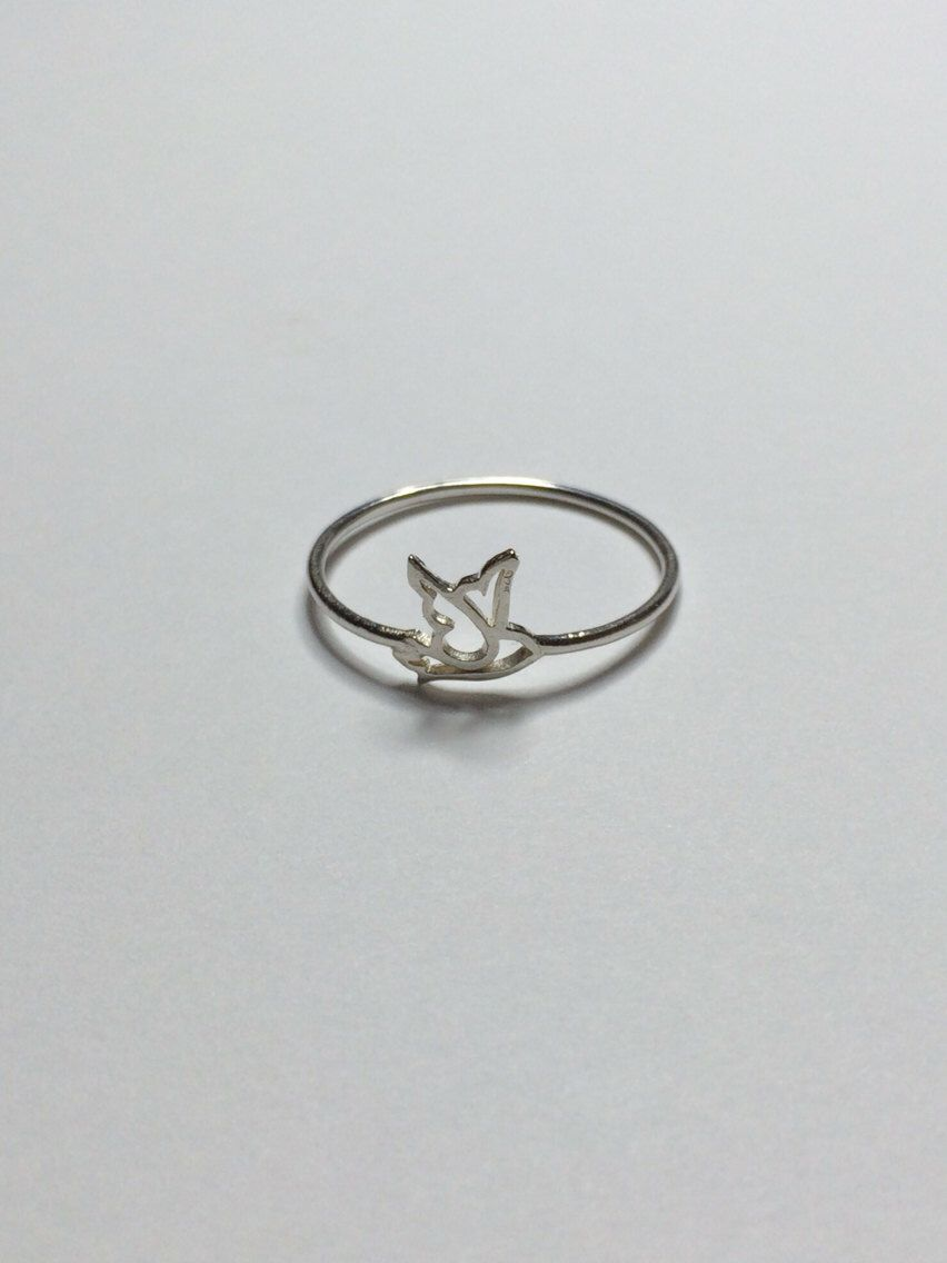 Dove Ring - Sterling Silver by RandPJewelry on Etsy https://www.etsy.com/listing/198567758/dove-ring-sterling-silver