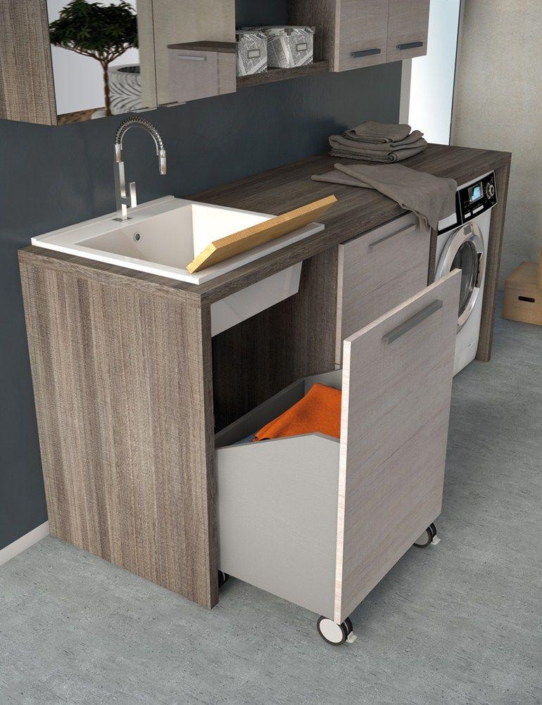 Mobile lavanderia con lavatoio lavanderia 6 by legnobagno