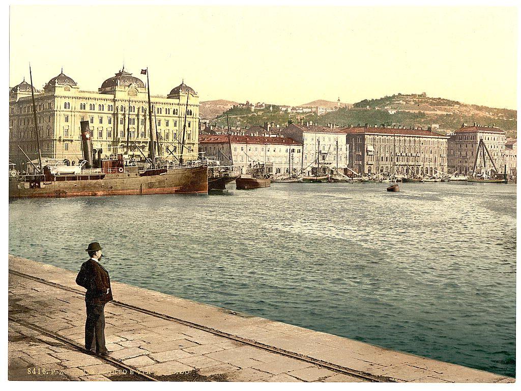 Art color rijeka - Rijeka Fiume The Harbor Croatia Austro Hungary This Color Photochrome Print Was Created Between 1890 And 1900 In Croatia Austro Hungary