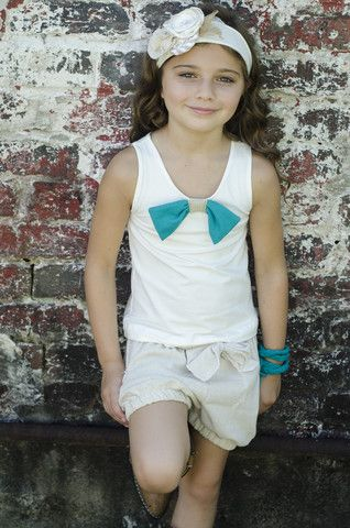 Indian Summer Bow Tank $32.00 - Sado Boutique FREE SHIPPING on orders over $50!! www.SadoBoutique.com Children's Boutique Clothing, Vintage Inspiration, infant, toddler, girl, boy and tween sizes.