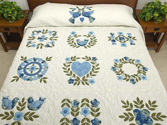 Applique Album Sampler Quilt -- marvelous specially made Amish ... : lancaster quilts - Adamdwight.com
