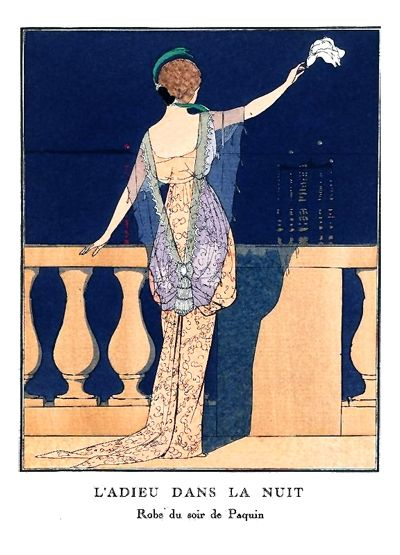 images fashion illustrations le bon ton victorian french magazine | ... Adieu Dans La Nuit André Edouard illustration of Paquin evening gown